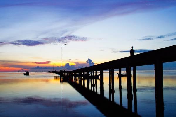 Cầu cảng Hàm Ninh. Ảnh: salindaresort