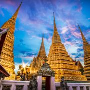 evening-shot-of-the-chedis-at-wat-pho-in-bangkok